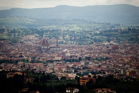 Overlooking the city of Florence from Villa San Michele