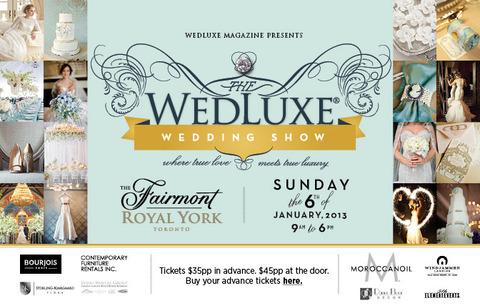 WedLuxe Wedding Show 2013