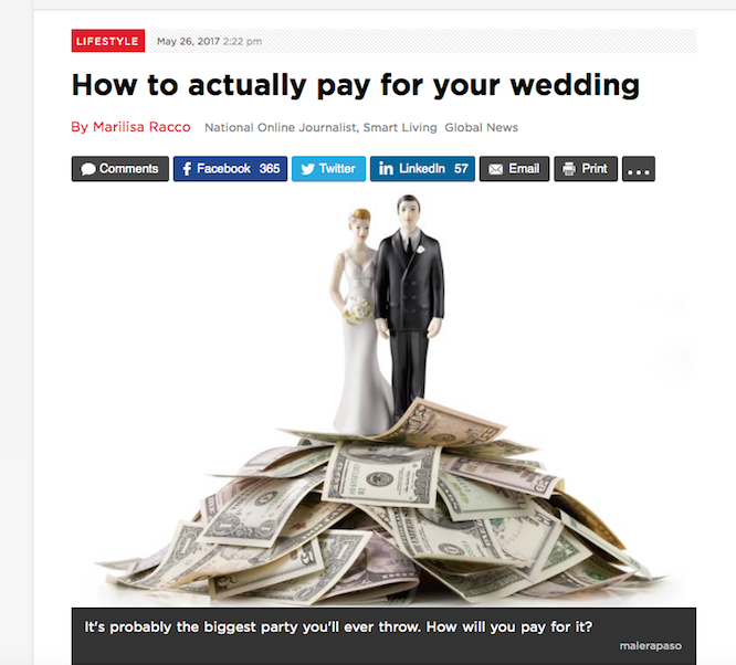 In the media global news how to actually pay for a wedding we are going to share all the tips and tricks in more detail that we provided for the article to help you on how you can actually pay for your wedding junglespirit Image collections