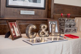 Great Gatsby Themed Wedding Guestbook and box