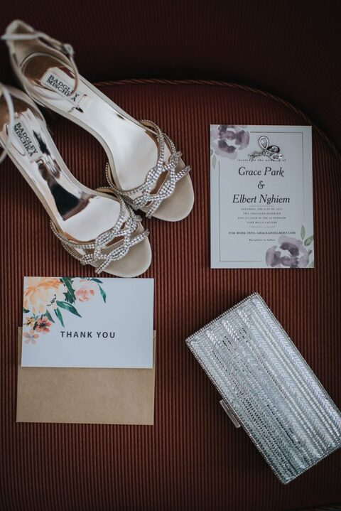 Details - invite thank you shoes