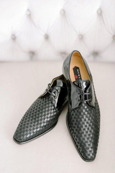 Black groom shoes