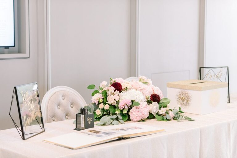 Reception Welcome Table