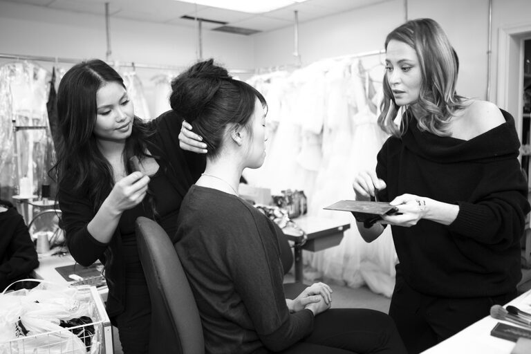 Behind the scenes Fashion show