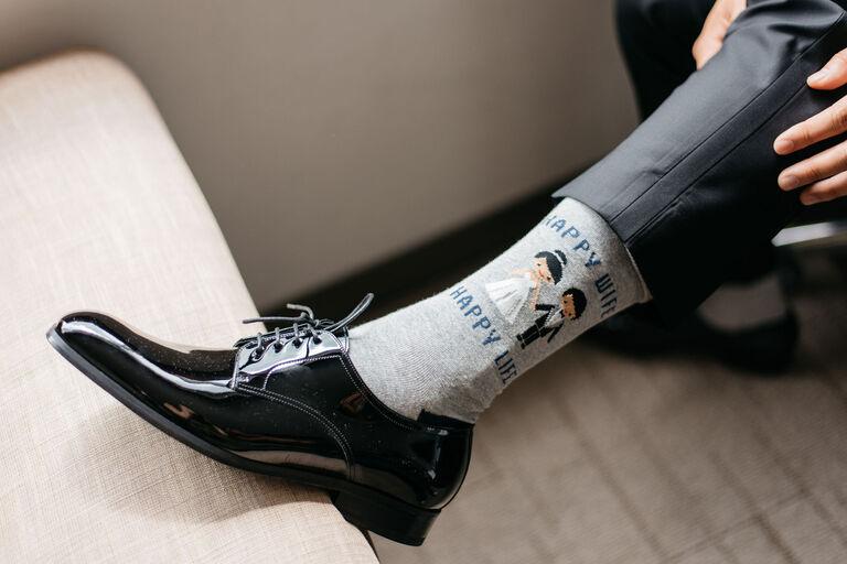 Customized Wedding Socks